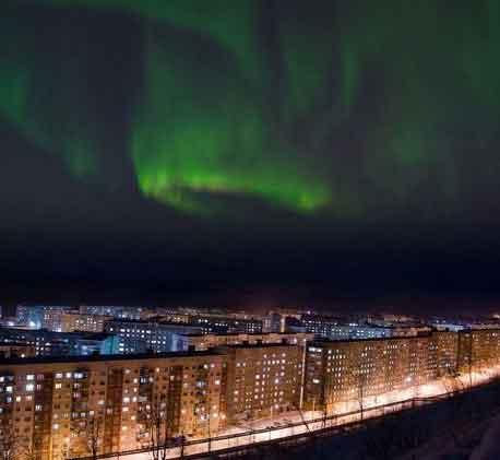 Северное сияние - полярная ночь